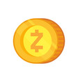 zcash sign vector image vector image