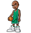 basketball player with attitude vector image