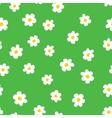 Cartoon flowers seamless pattern vector image