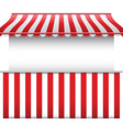 Stall with stripped awning vector image