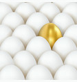 3d golden and white eggs eggs concept golden egg vector image