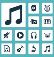 audio icons set collection of instrument barrel vector image vector image