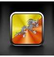 Bhutan icon flag national travel icon country vector image vector image