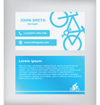 Business card Biking vector image