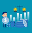 business consulting development invest success vector image