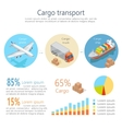 Cargo Transport Isometric Infographics Elements vector image vector image