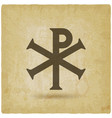 chi rho christian symbol vintage background vector image vector image