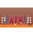 Circus interior concept banner Artists vector image vector image