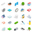 city structure icons set isometric style vector image vector image