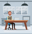 colorful background workplace office with vector image vector image