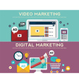 Concepts for video marketing digital marketing vector image vector image