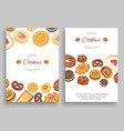 cookies banners set different chocolate vector image