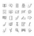 creative copywriting icon set vector image