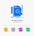 creative design develop feedback support 5 color vector image vector image