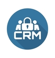 CRM Security Icon Flat Design vector image vector image