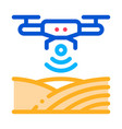 drone wi-fi signal icon outline vector image