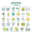 E-commerce icon set Color modern line icons for vector image vector image