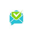 email checklist logo vector image vector image
