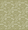 fast food icons seamless pattern vector image