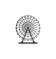 ferris wheel black on white background vector image