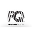 fq f q lines letter design with creative elegant vector image vector image