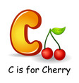 fruits alphabet c is for cherry fruits vector image vector image