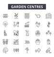 garden centres line icons signs set vector image