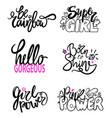 girlish graffiti signs slogan vector image