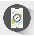 global positioning system design vector image vector image