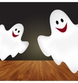 Halloween background with ghosts vector image vector image