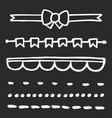 hand drawn set isolated on black vector image vector image