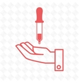 hand laboratory tools chemistry vector image