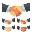 handshake businessmen different races vector image