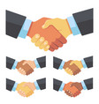 handshake of businessmen of different races vector image