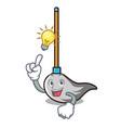 have an idea mop mascot cartoon style vector image
