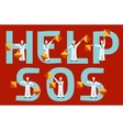 help and sos semaphore flags vector image vector image