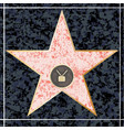 hollywood tv walk of fame vector image vector image