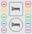 Hotel icon sign symbol on the Round and square vector image