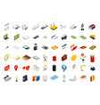 isometric icons computer technology vector image vector image