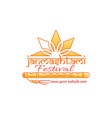 janmashtami festival logo concept design vector image