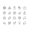 Line Sport Equipment Icons vector image vector image