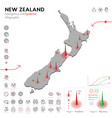map new zealand epidemic and quarantine vector image vector image
