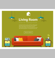Modern living room Interior background 4 vector image vector image