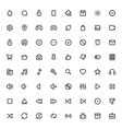 outline icons for web and mobilethin stroke icons vector image vector image
