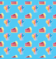 pattern piece of cake for celebration birthday vector image vector image