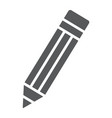 pencil glyph icon tools and design pen sign vector image vector image