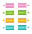 Pencil template set Four step infographic Flat vector image