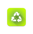 recycle waste sign icon vector image vector image