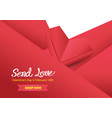 red background with place for your text vector image vector image