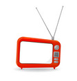 red tv vector image vector image